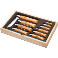 Collectors Tray – 10 Carbon Steel Knives